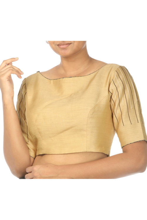 Gold Raw Silk Blouse