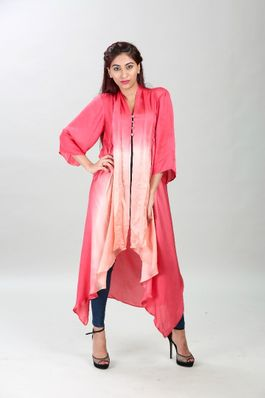 Tie and dye flare cape