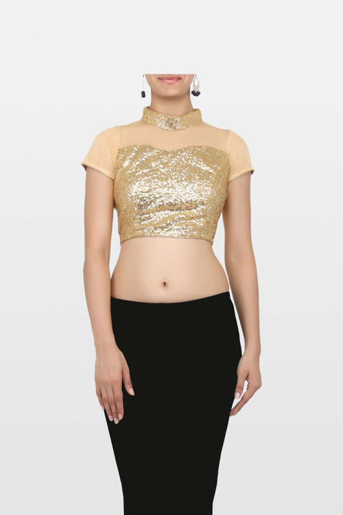 Golden net blouse