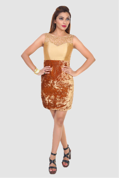 Glitz Gold Mini Dress