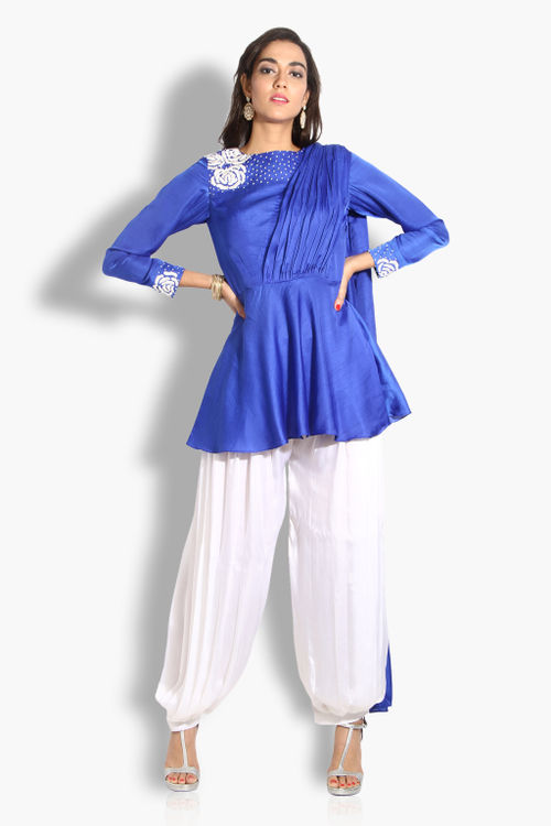 Peplum Kurta and Dhoti Pant set