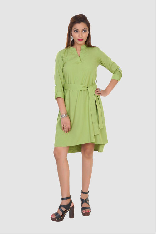 Green Wrap Dress