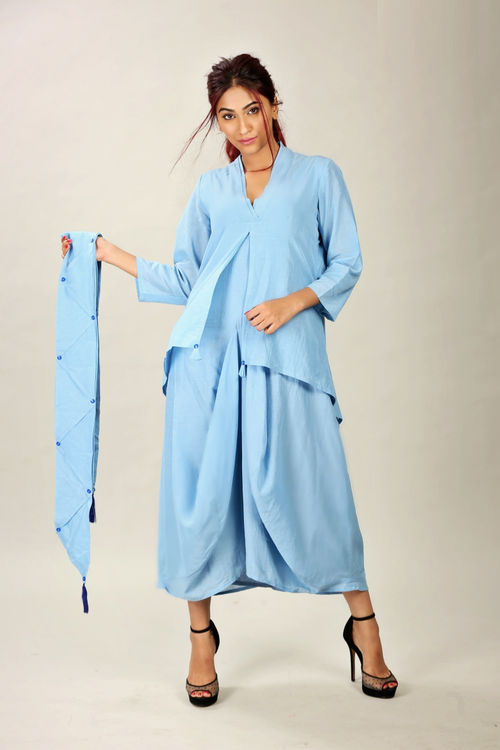 Dhoti Dress with separate scarf