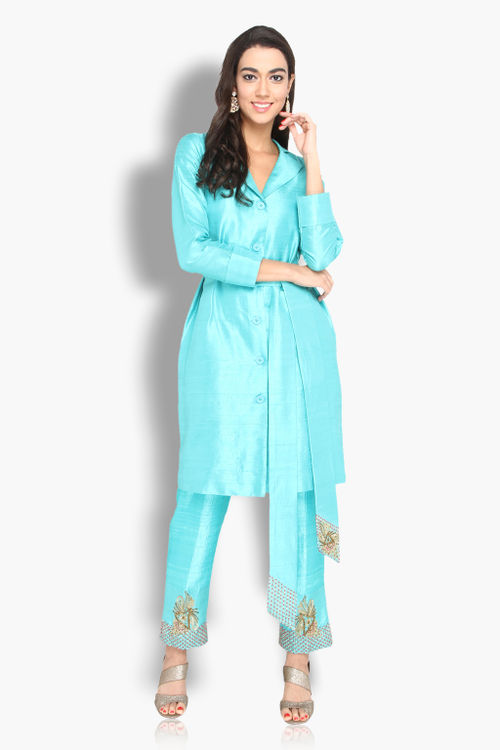 Trench Kurta with Pants