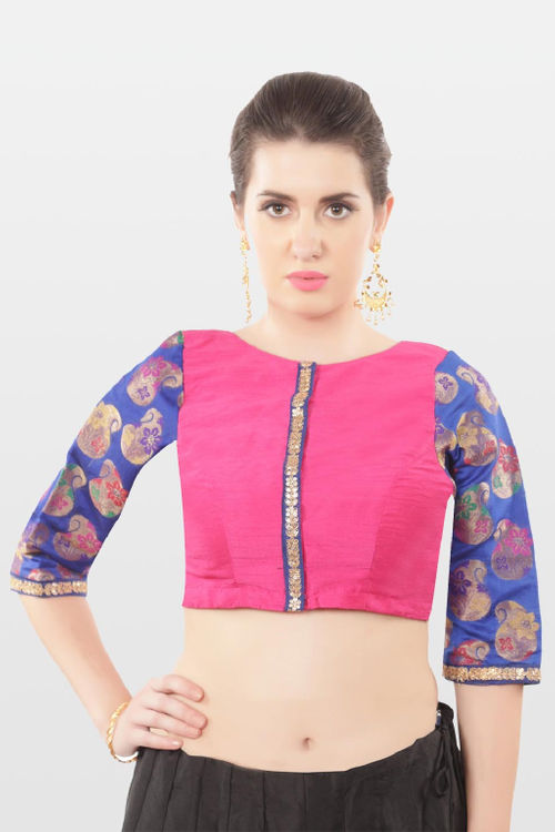 Raw Silk and Brocade Blouse