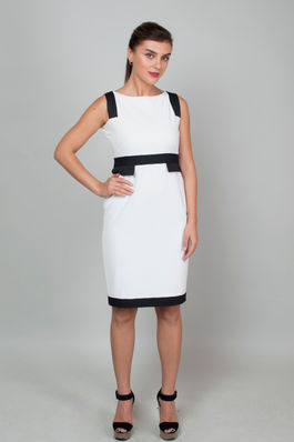 White Office Sheath Dress