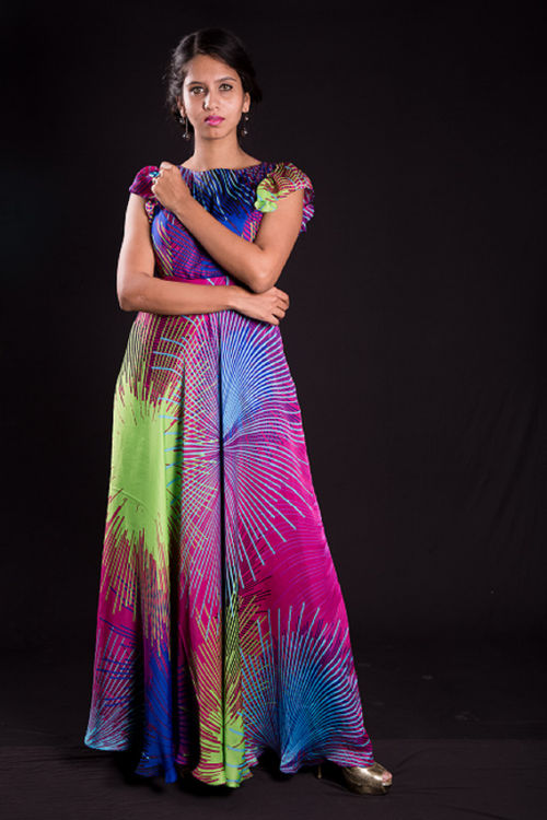 Multicolour Gown