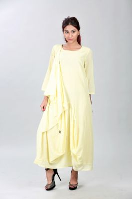 Dhoti dress with attached scarf