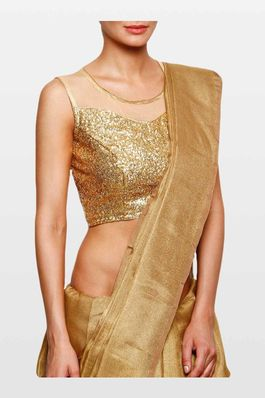 Golden Sequinned Blouse with net