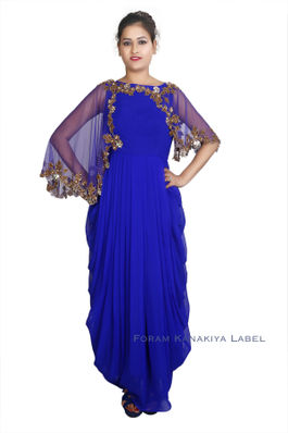 Lungi Style Gown with Cape
