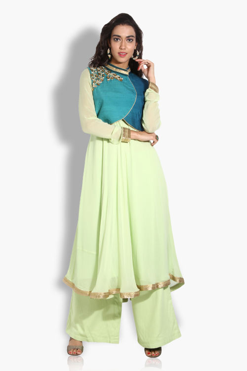 Crop Jacket and Anarkali Set