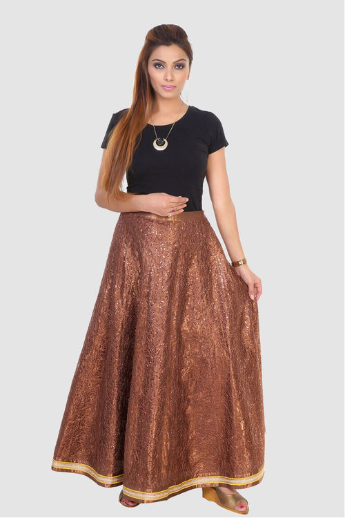 Knitted and Sequinned Skirt