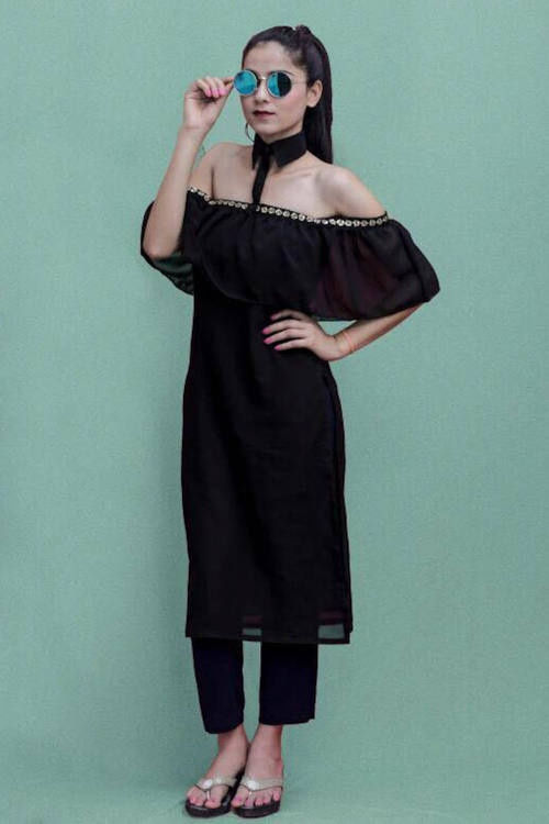 Detachable Collar Kurti