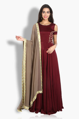 Floor Length Dress with Dupatta