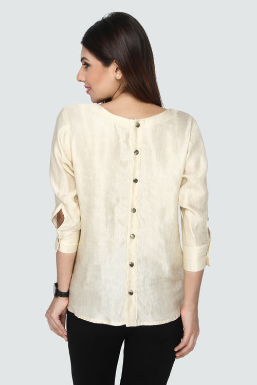 Luxe Back Button Down Shirt