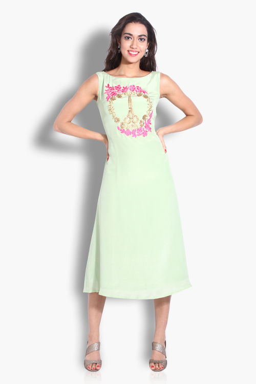 Quirky Mint Scissor Dress