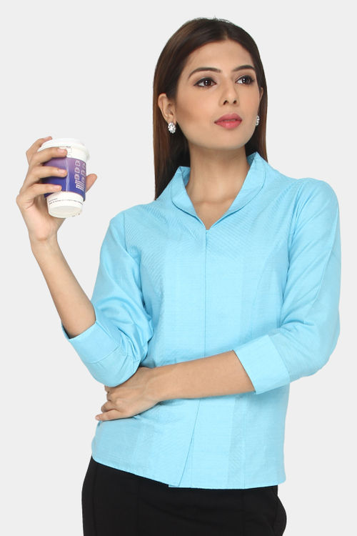 Cotton Silk Threaded Shirt