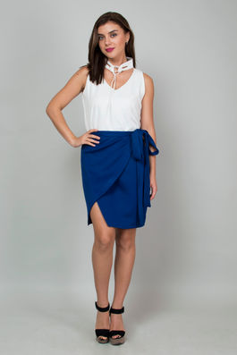 Wrap Around Electric Blue Skirt.