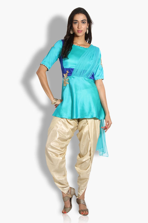 Peplum Kurti with Dhoti Pants