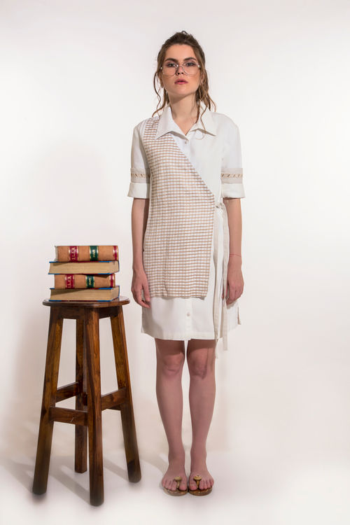 Overlap Shirt Dress