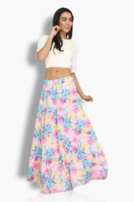 Floral Lehenga and Crop Set