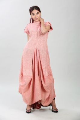 Jute cotton cowl dress