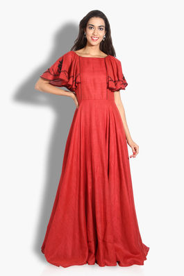 Red Ruffles Gown