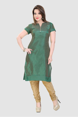 Green Kurti with anchored stitches