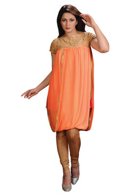 Georgette and Lace Tunic