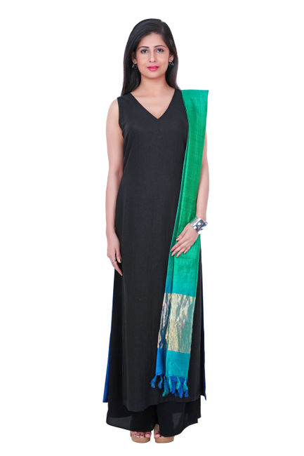 Floor length kurta with shaded dupatta for Floor length kurti