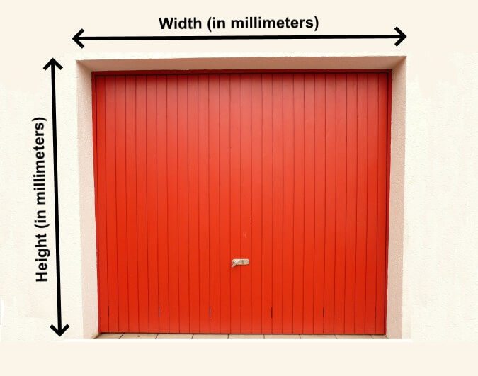 How to measure daylight opening for pvc strip curtains