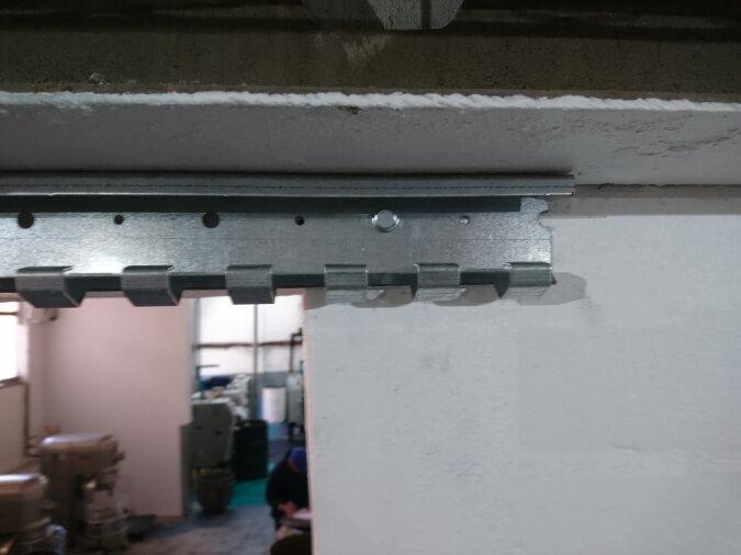 Closeup PVC Strip Curtain Rail