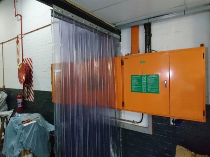 Sliding Curtain Door Open Position