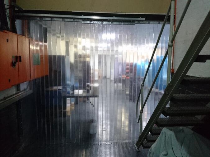 Sliding PVC Curtains Closed Position