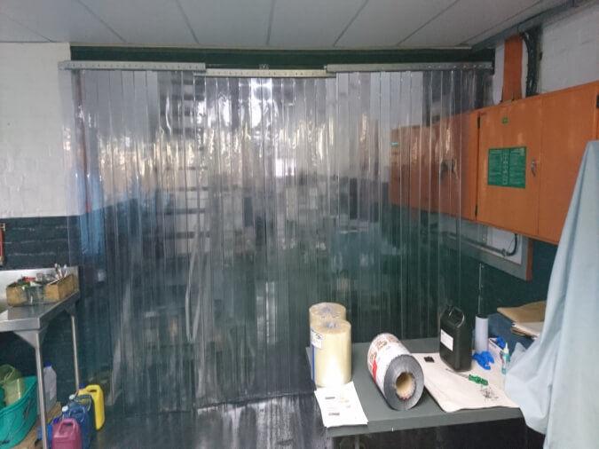 Sliding Plastic Curtains Closed Position