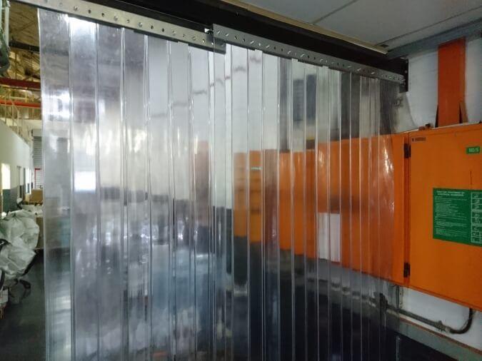 Sliding Plastic Curtains Open Position
