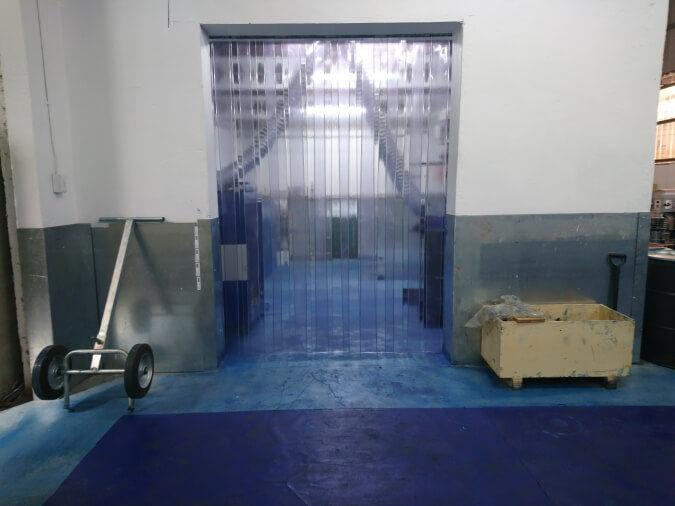 Walk Through Plastic Curtain