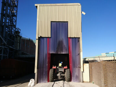 forklift curtains for large door opening
