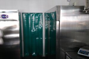 Opaque strip curtain for restaurant