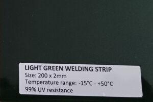 red welding strip curtain