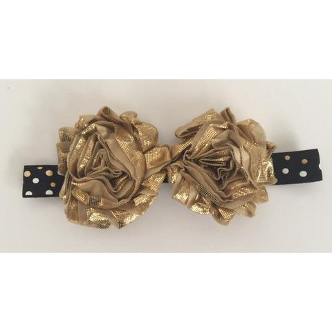 Black and Gold Hair Bow