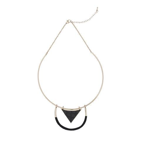 Modern Muse Necklace Gold Black