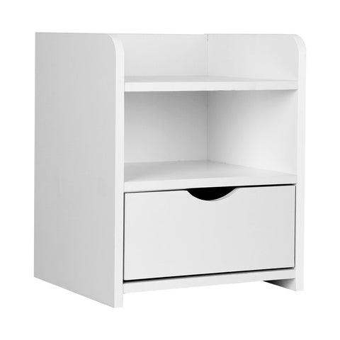 Bedside Table Drawer White