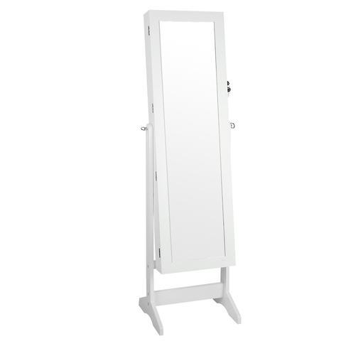 Jewellery Cabinet w/ Mirror White