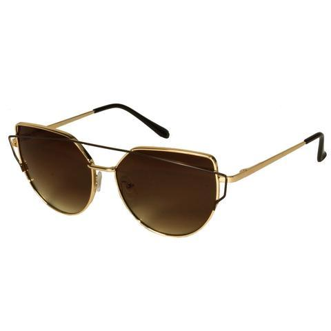 Mechaly Cat Eye Style Gold Sunglasses