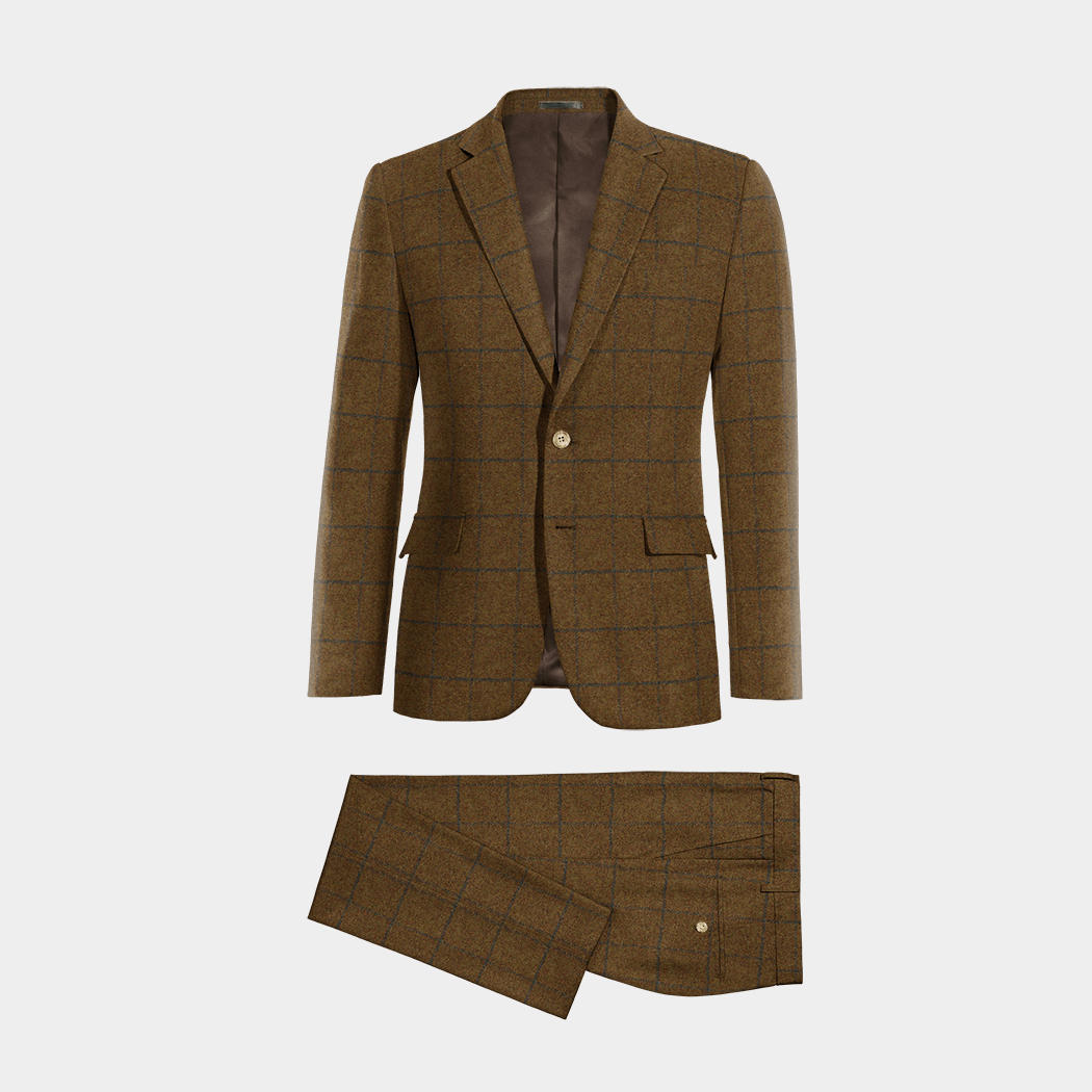brauner anzug aus tweed 229 davenport hockerty. Black Bedroom Furniture Sets. Home Design Ideas