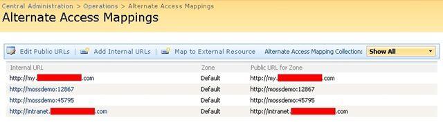 Alternate AccessMappings