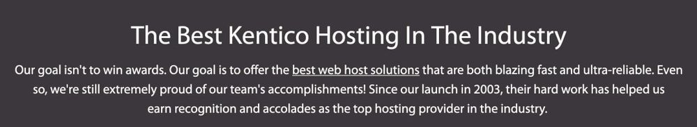 A2 Hosting - Best Kentico Hosting