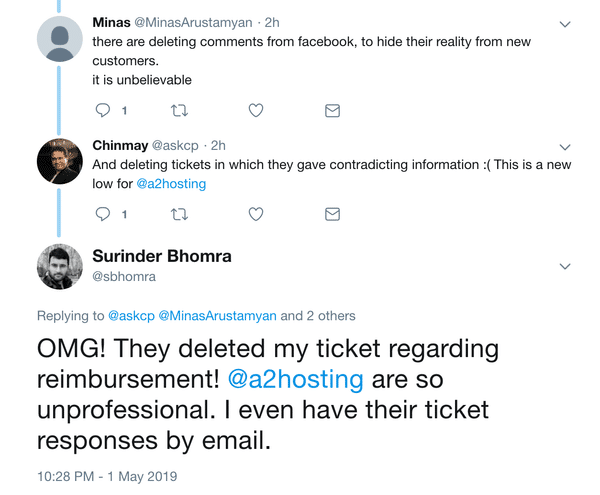 Tweet - A2 Hosting Deleting Tickets