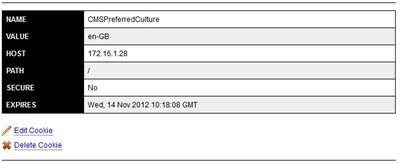 Kentico CMSPreferredCulture Cookie
